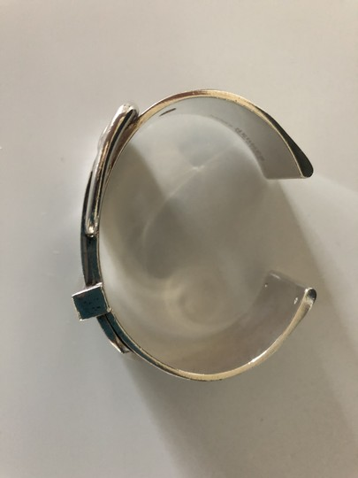 Hermès Sterling Silver Boucle Sellier Cuff Image 6
