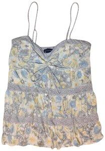 American Eagle Outfitters Top Yellow, Blue, and Gray
