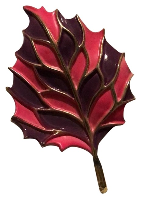 Item - Pink and Purple Leaf Broach