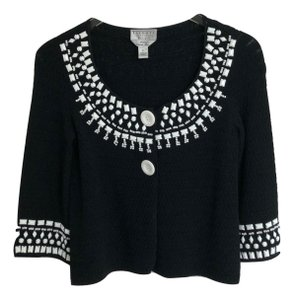 Talbots Cardigan Beaded Knit Sweater