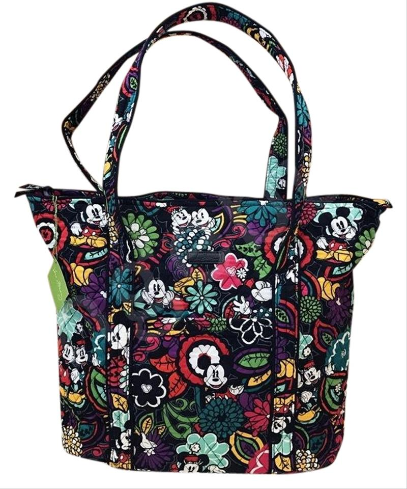 06135a406bc Vera Bradley Large Disney Mickey s Magical Blooms Black Red White Tote