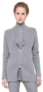 Akris Cashmere Sweater Ribbed Knit Cardigan