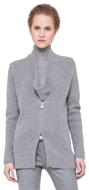 Preload https://img-static.tradesy.com/item/24502160/akris-grey-l-large-cashmere-ribbed-knit-sweater-zipper-cardigan-size-14-l-0-1-650-650.jpg