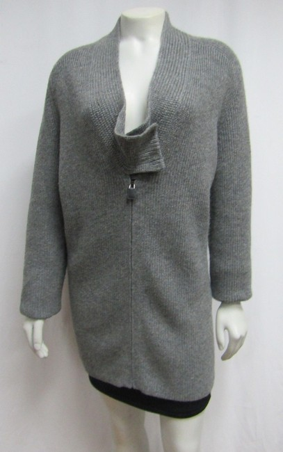 Akris Cashmere Sweater Ribbed Knit Cardigan Image 1