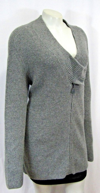 Akris Cashmere Sweater Ribbed Knit Cardigan Image 3