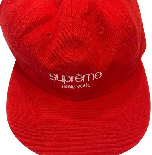 Preload https://img-static.tradesy.com/item/24502196/supreme-red-napped-canvas-classic-logo-6-panel-hat-0-1-540-540.jpg