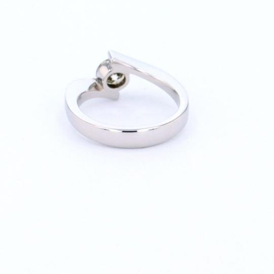 White Gold 14k Contorted Solitaire Diamond (0.59 Ct) Engagement Ring Image 4