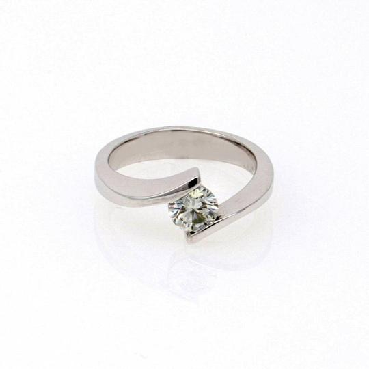 White Gold 14k Contorted Solitaire Diamond (0.59 Ct) Engagement Ring Image 1