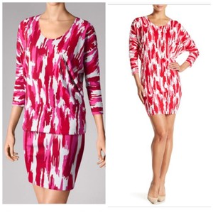 Wolford short dress Pink Red Dolmansleeves Blouson on Tradesy