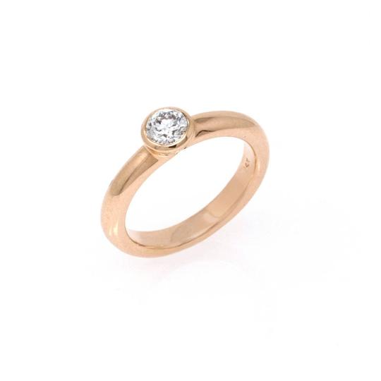 Rose Gold 18k Minimalist Solitaire Diamond (0.47 Ct) Engagement Ring Image 1