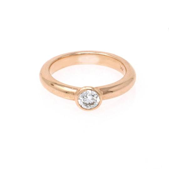 Rose Gold 18k Minimalist Solitaire Diamond (0.47 Ct) Engagement Ring Image 3