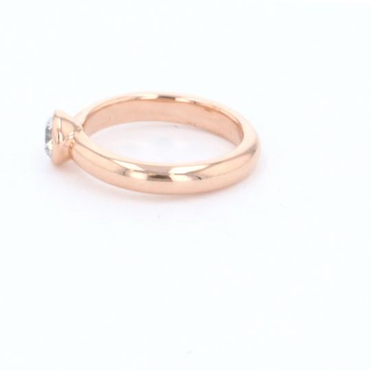 Rose Gold 18k Minimalist Solitaire Diamond (0.47 Ct) Engagement Ring Image 4