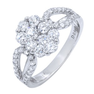 Gavriel's Jewelry Diamond Cluster Ladies Ring 1.22cts 18K White Gold