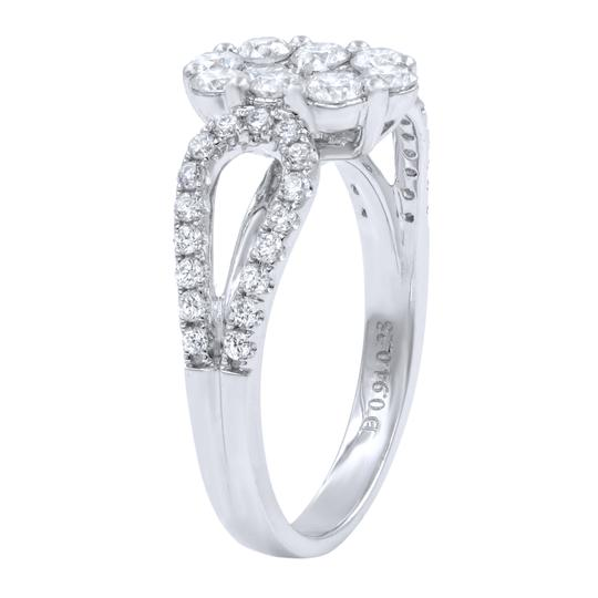 Gavriel's Jewelry Diamond Cluster Ladies Ring 1.22cts 18K White Gold Image 1