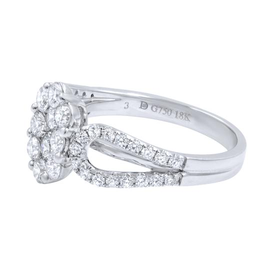 Gavriel's Jewelry Diamond Cluster Ladies Ring 1.22cts 18K White Gold Image 2