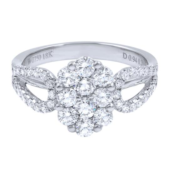 Gavriel's Jewelry Diamond Cluster Ladies Ring 1.22cts 18K White Gold Image 3