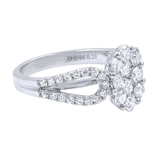 Gavriel's Jewelry Diamond Cluster Ladies Ring 1.22cts 18K White Gold Image 4