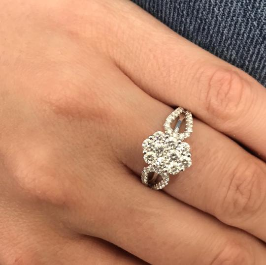 Gavriel's Jewelry Diamond Cluster Ladies Ring 1.22cts 18K White Gold Image 6