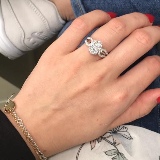 Gavriel's Jewelry Diamond Cluster Ladies Ring 1.22cts 18K White Gold Image 7