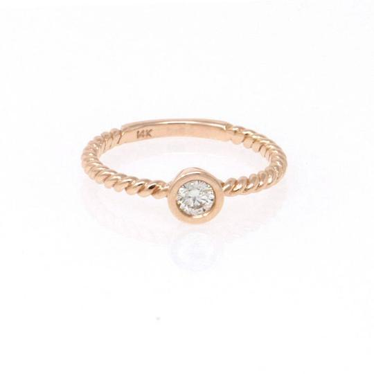 Rose Gold 14k Braided Solataire Diamond (0.21 Ct) Engagement Ring Image 1