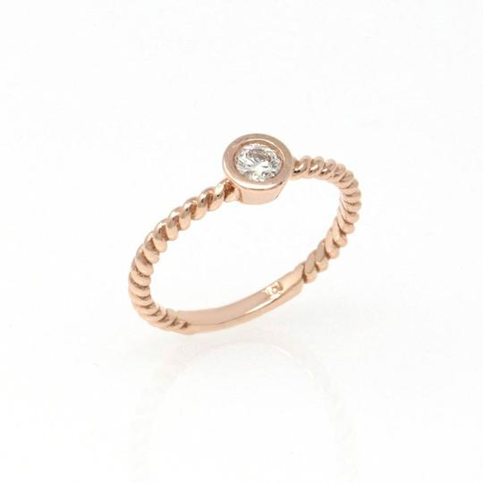 Rose Gold 14k Braided Solataire Diamond (0.21 Ct) Engagement Ring Image 2