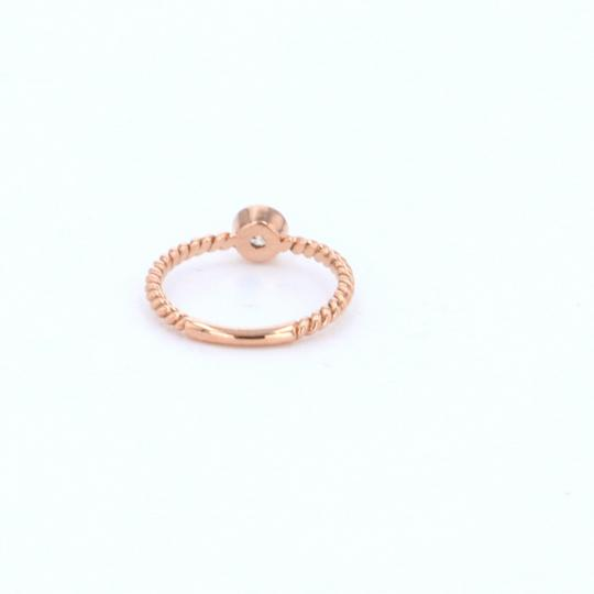 Rose Gold 14k Braided Solataire Diamond (0.21 Ct) Engagement Ring Image 4
