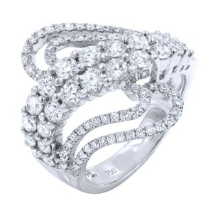 Gavriel's Jewelry Diamond Pave Fashion Statement Ring 2.10cts 18KW
