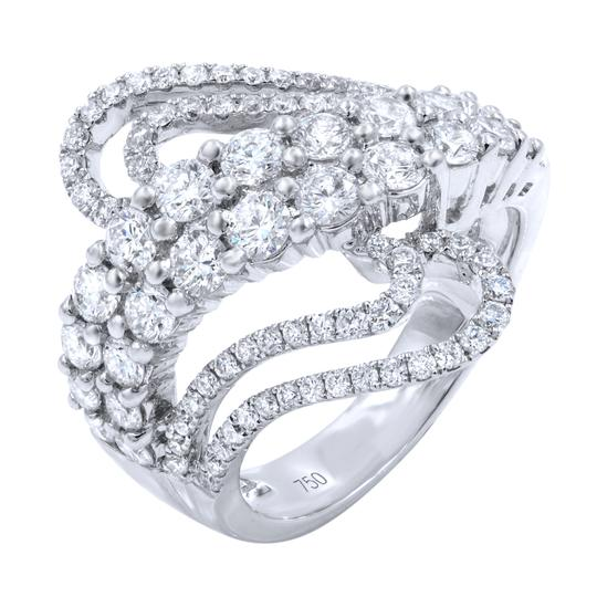 Gavriel's Jewelry Diamond Pave Fashion Statement Ring 2.10cts 18KW Image 0