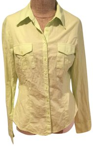 James Perse Button Down Shirt yellow