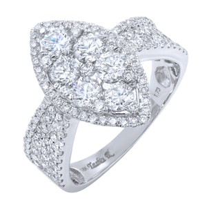 Gavriel's Jewelry Marquise Shape Cluster Diamond Ring 1.73cts