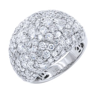 Gavriel's Jewelry Large Pave Diamond Encrusted Ring 5.17cts 18K White Gold