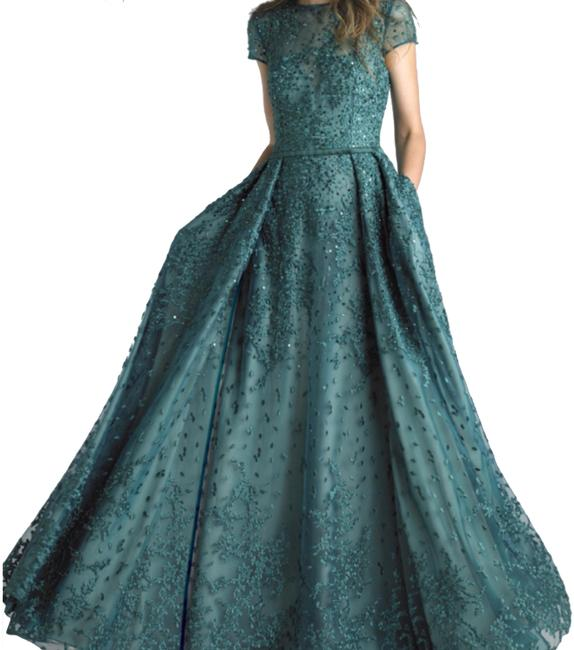 Item - Emerald Green Evening Gown Long Formal Dress Size 10 (M)
