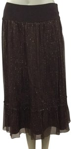 Boston Proper Skirt Dark Brown