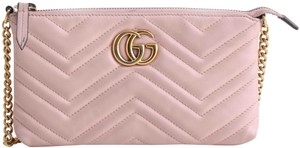 Gucci Chain Marmont Leather Cross Body Bag