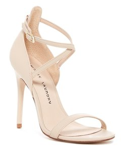 """Chinese Laundry Open Toe Ankle Strap Buckle Clsoure Lightly Padded 4.8"""" Stiletto Heel Sand Pumps"""
