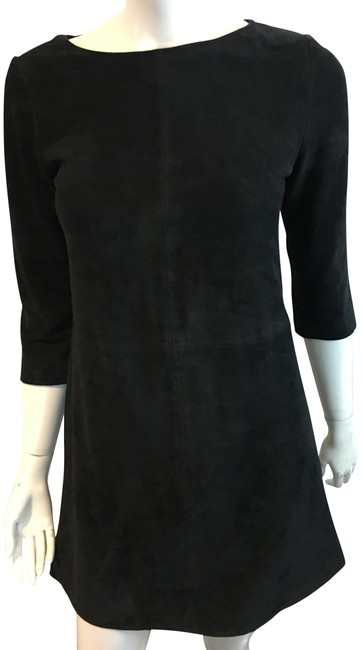 Item - Black W 791118 Suede W/ 3/4 Sleeves Mid-length Night Out Dress Size 6 (S)