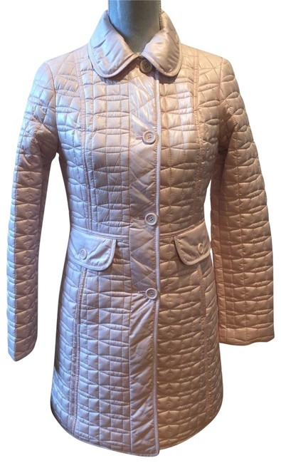 Item - Pink Packable Long A-line Quilted Coat Size 4 (S)