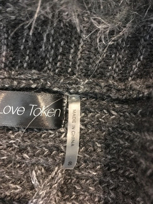Love Token Fur Tunic Faux Fur Crewneck Poncho Sweater Image 5