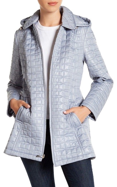 Item - Gray New York Hooded Quilt Jacket Coat Size 6 (S)