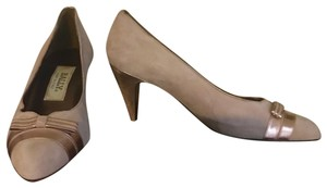 Bally Taupe, Rose Gold Pumps