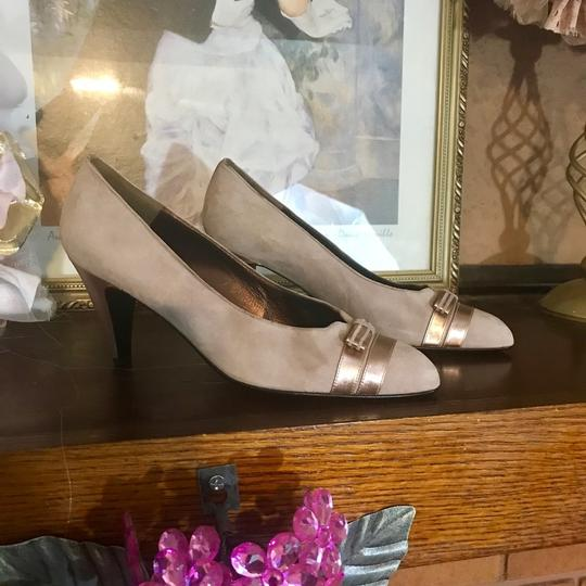 Bally Taupe, Rose Gold Pumps Image 1