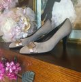 Bally Taupe, Rose Gold Pumps Image 2