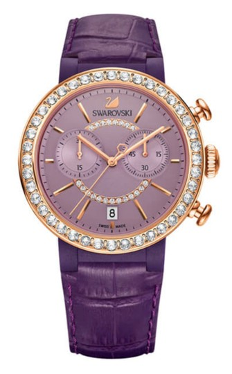 Preload https://img-static.tradesy.com/item/24502823/swarovski-purple-crystal-citra-chrono-wristwatch-rose-gold-signed-watch-0-0-540-540.jpg