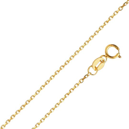 Preload https://img-static.tradesy.com/item/24502836/yellow-14k-gold-09-mm-diamond-cut-oval-angled-cable-chain-18-necklace-0-1-540-540.jpg