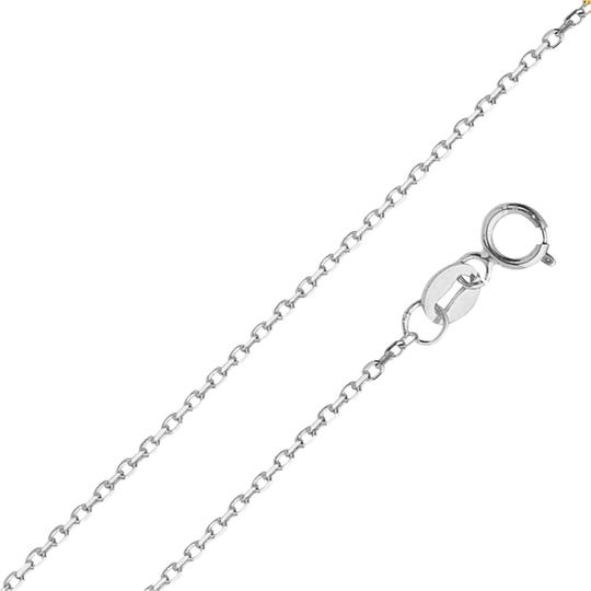 Preload https://img-static.tradesy.com/item/24502885/white-14k-gold-09-mm-diamond-cut-oval-angled-cable-chain-18-necklace-0-1-540-540.jpg
