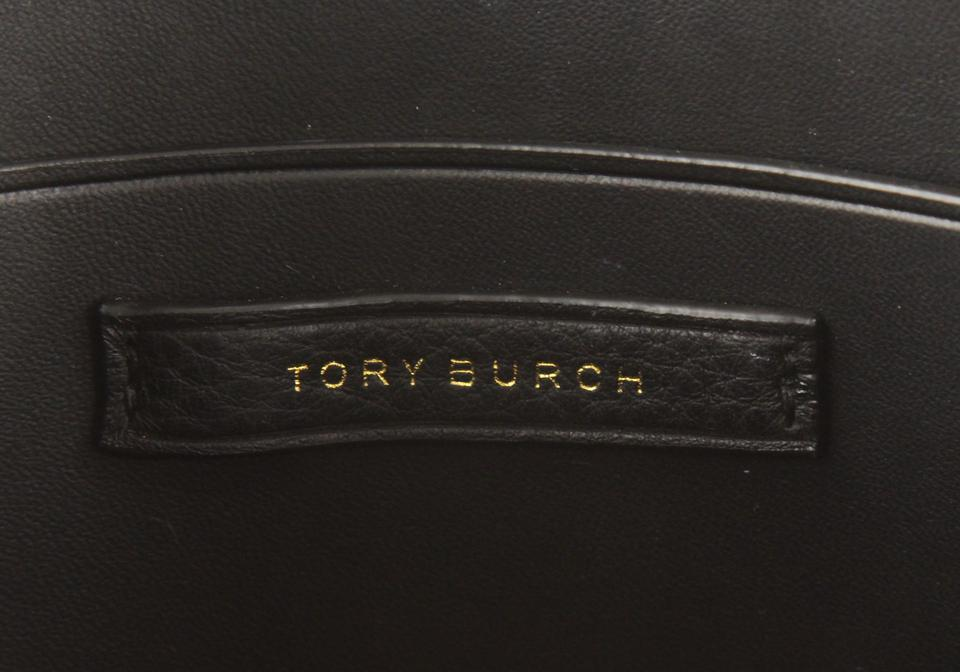 9500d04af Tory Burch Piper Saddle Large Black Leather Cross Body Bag - Tradesy