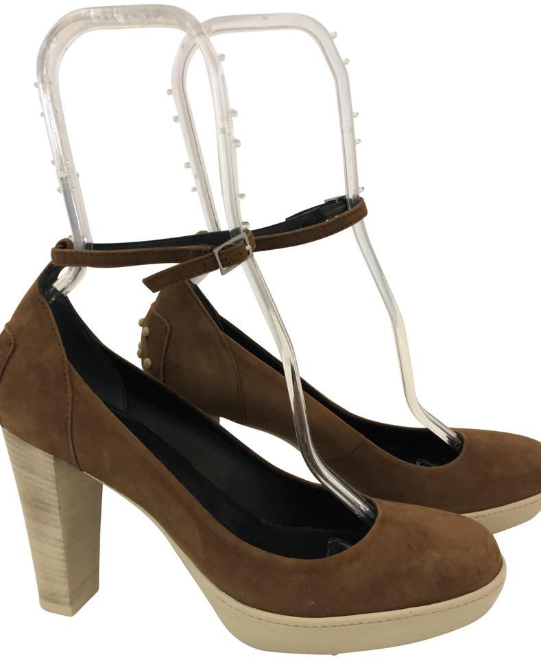 aba84372881 Tod s Brown 1211118 Suede Maryjane Ankle Strap Rubber Sole Platforms ...