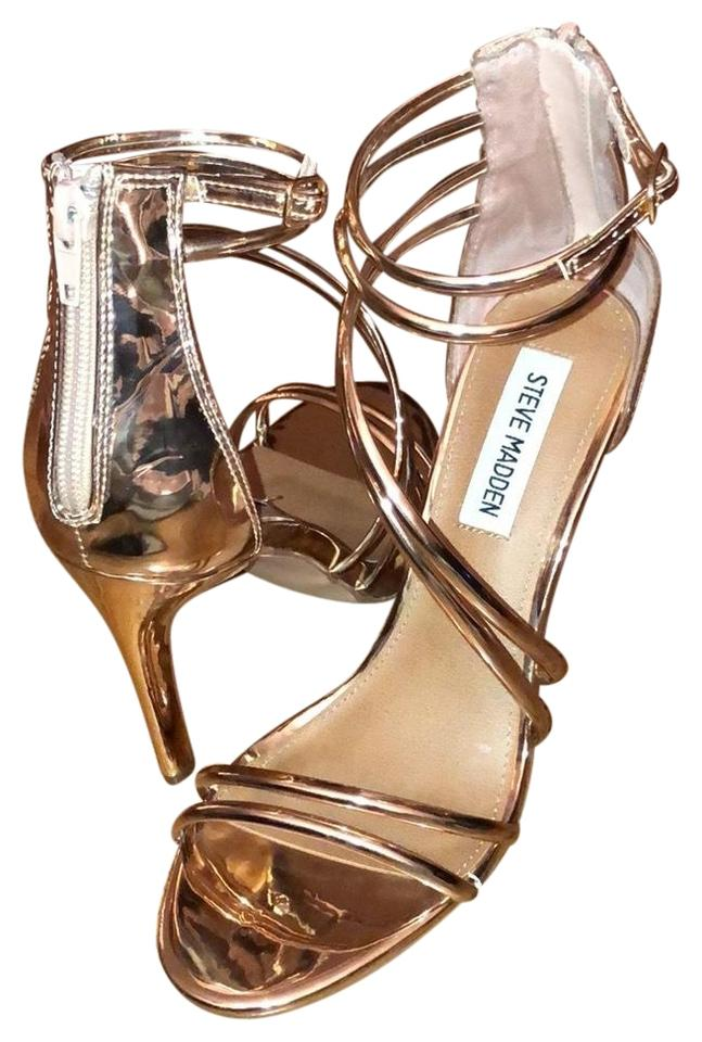 0382e1af5ae Steve Madden Rose Gold Fico Sandal Heel Pumps Size US 7 Regular (M ...