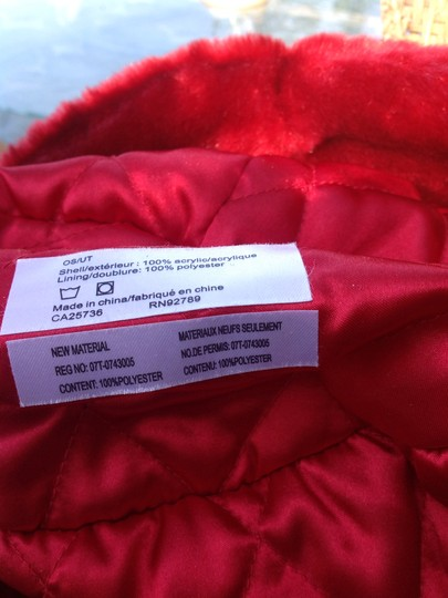 Flag accessories Nwt flag accessories red faux fur hat Image 3