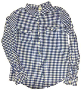 Old Navy Button Down Shirt Blue and White